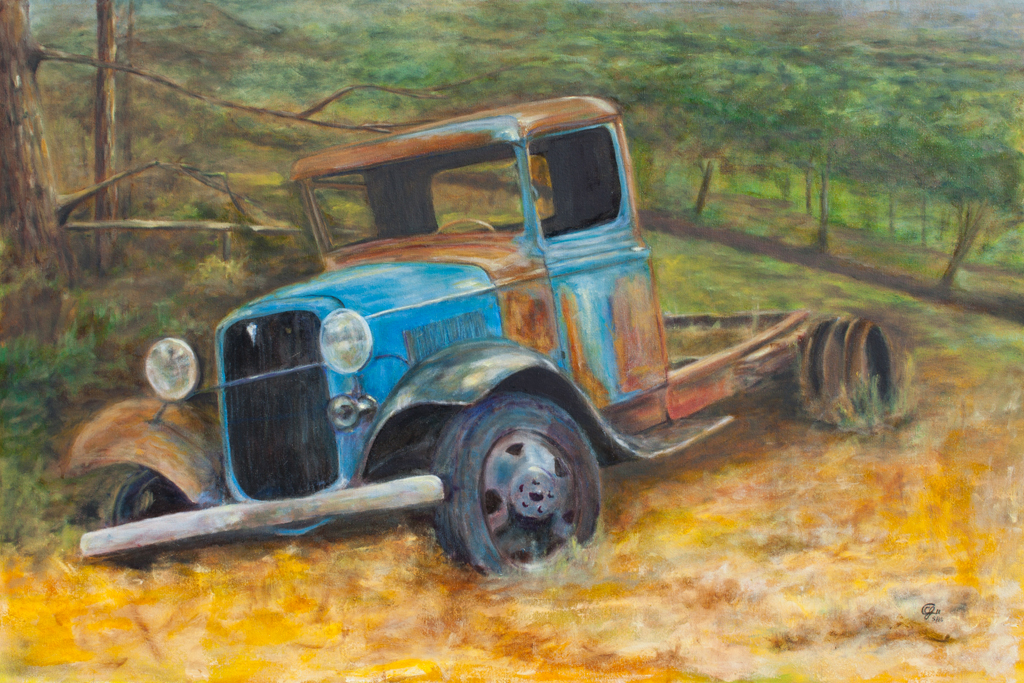 1933 Ford 24x36 Oil on Deep Canvas by CJ Campbell
