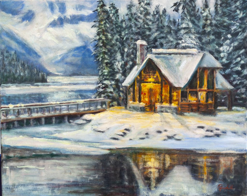 Cabin Light at Emerald 20x16 Oil on canvas by CJ Campbell