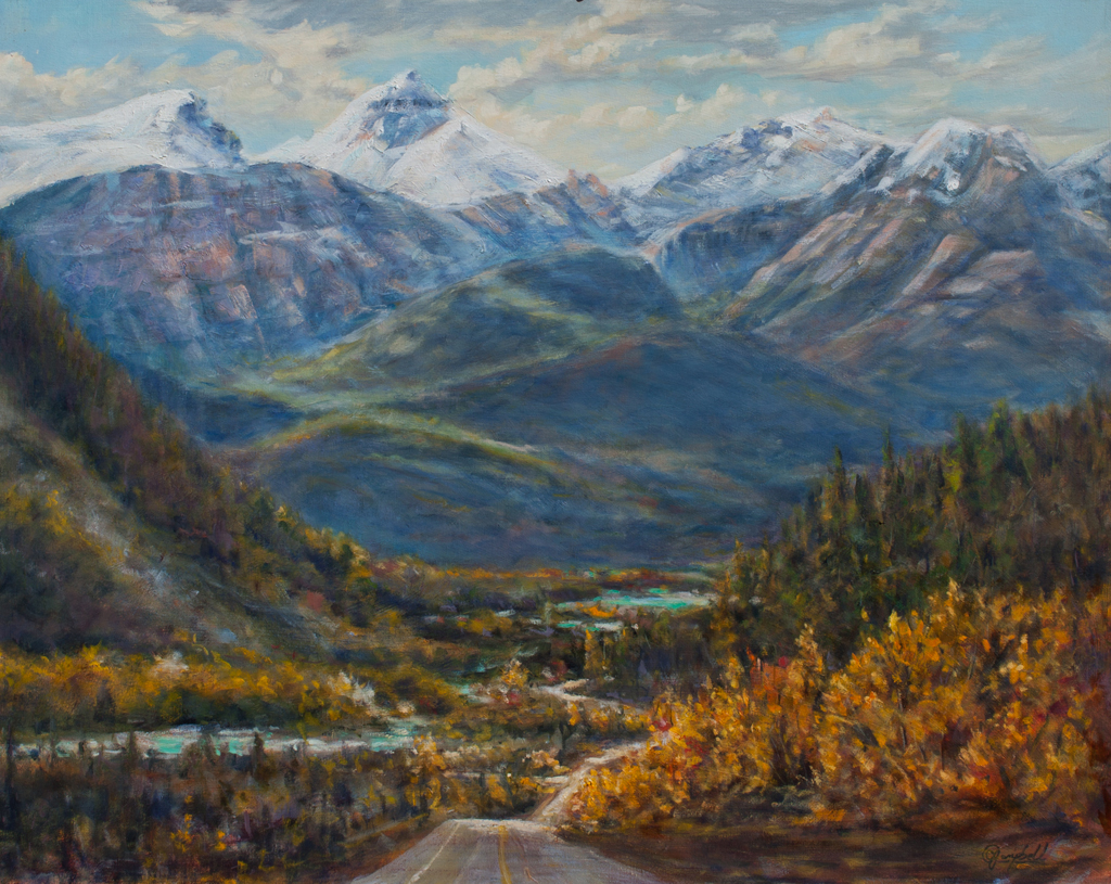 """Banded Peak 30x24"""" Oil on deep canvas by CJ Campbell"""