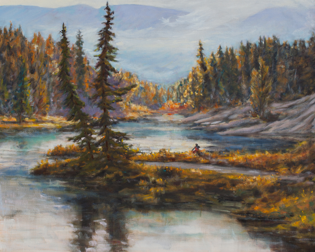 """A Quiet Moment 30x24"""" Oil on Deep Canvas by CJ Campbell"""